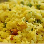 Cooked Poha Indian Breakfast
