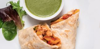 Butter Chicken Kathi Roll