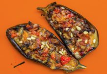 spicy stuffed aubergine